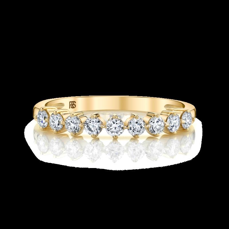 14k Yellow Gold Diamond Compass Set Ring 2