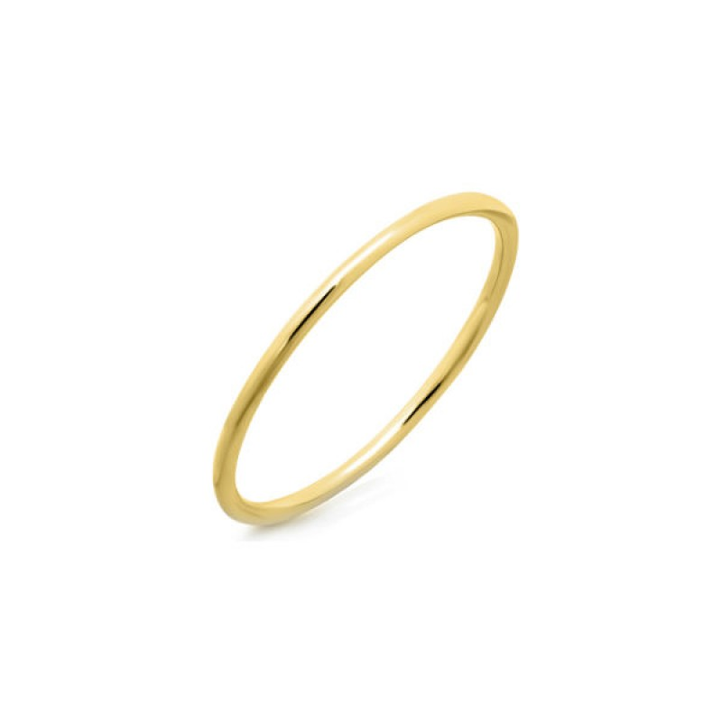 14k Yellow Gold Stackable Waif Ring