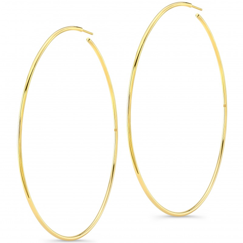 "14K Yellow Gold 3"" Hoop Earrings"