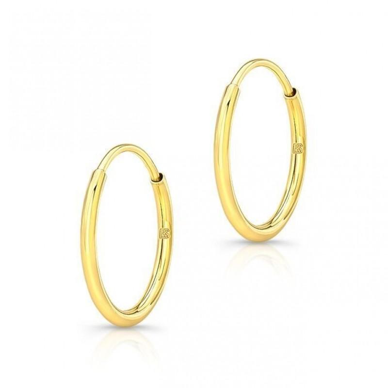 14K Yellow Gold Comfy Hoop Earrings