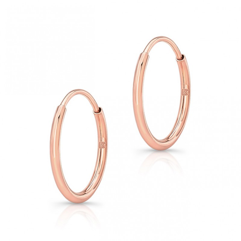 14K Rose Gold Comfy Hoop Earrings