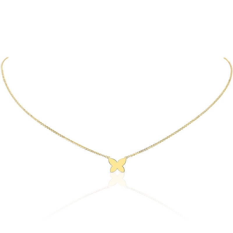 14k Yellow Gold Butterfly Necklace