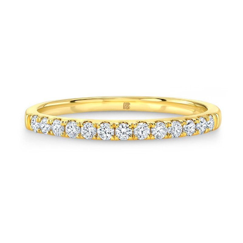 14k Yellow Gold Diamond Stack Ring