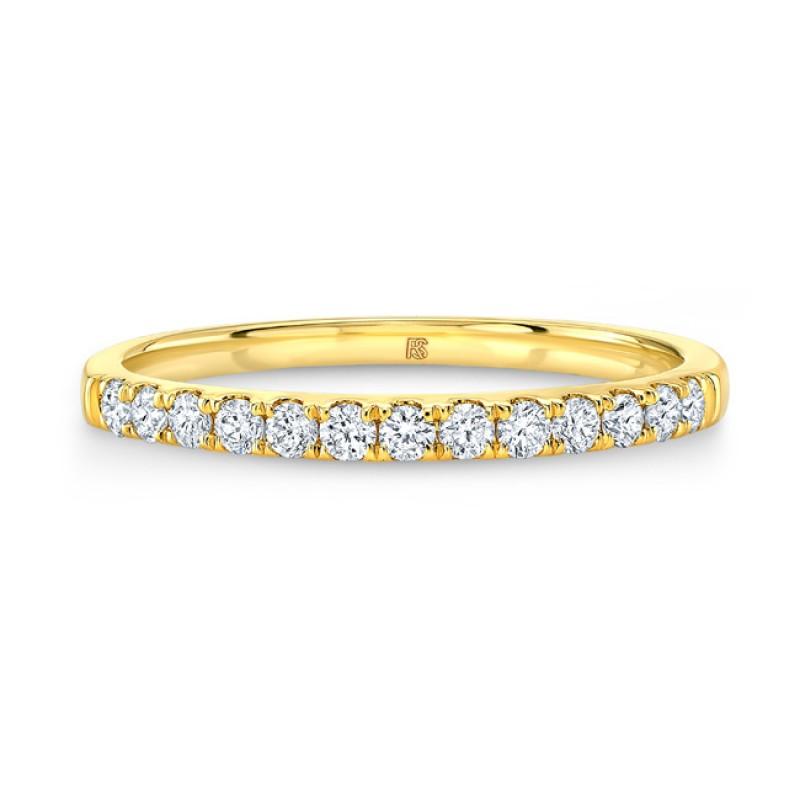 14k Yellow Gold Diamond Stack Ring
