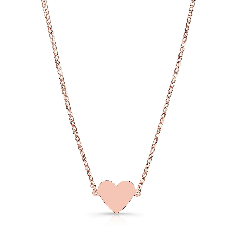 14k Rose Gold Floating Heart Necklace