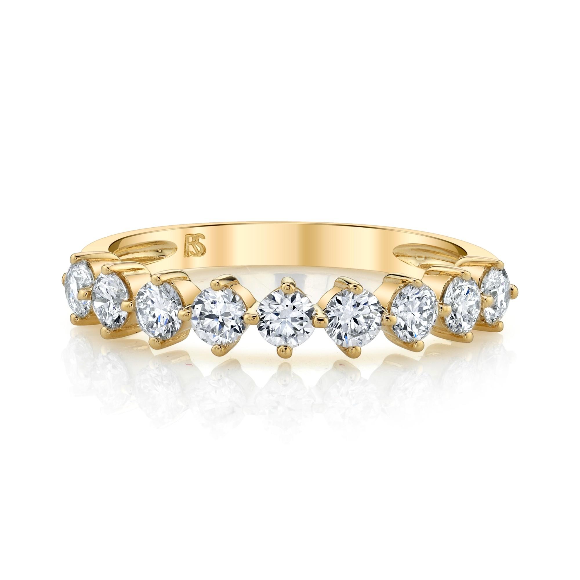 14k Yellow Gold Diamond Compass Set Ring