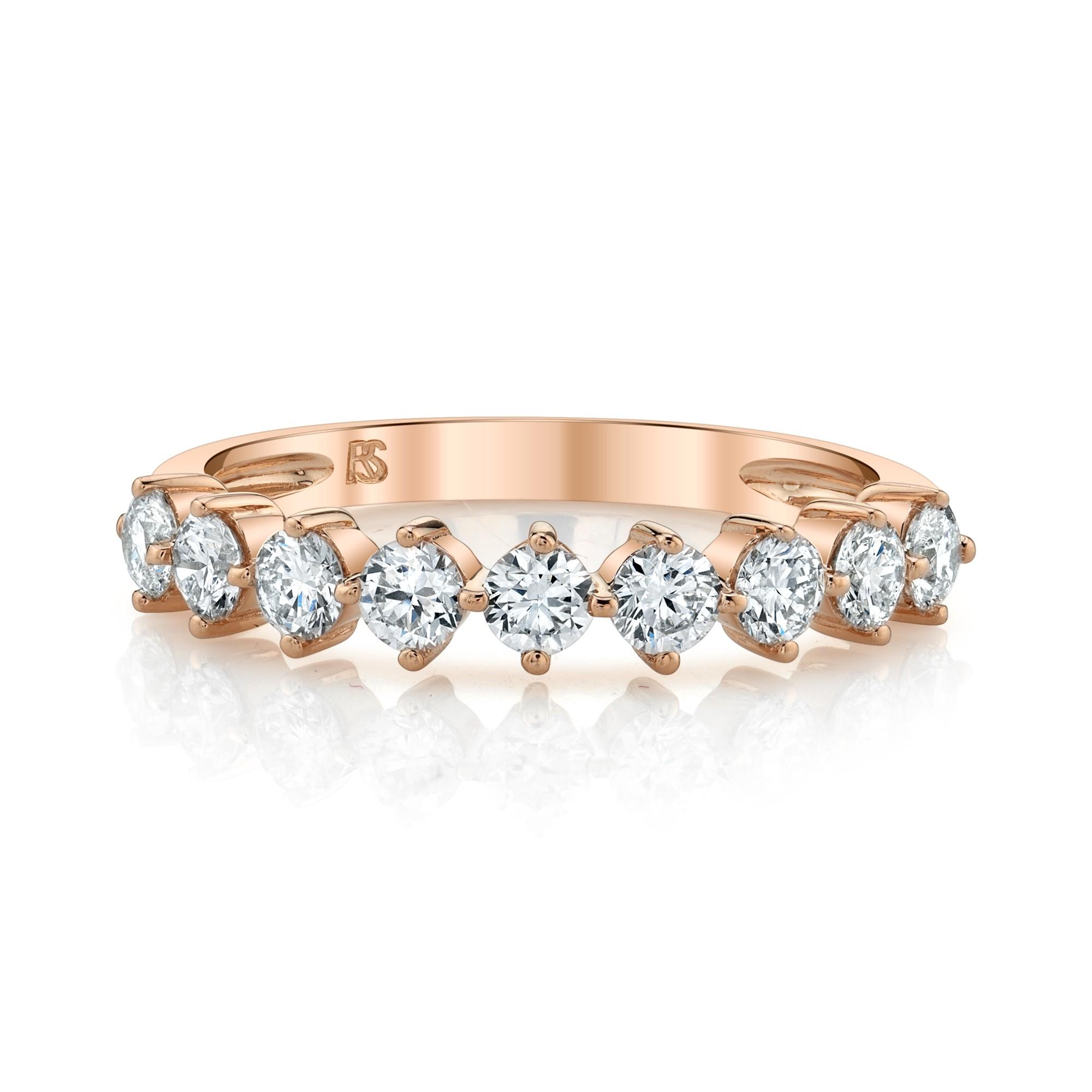 14k Rose Gold Diamond Compass Set Ring