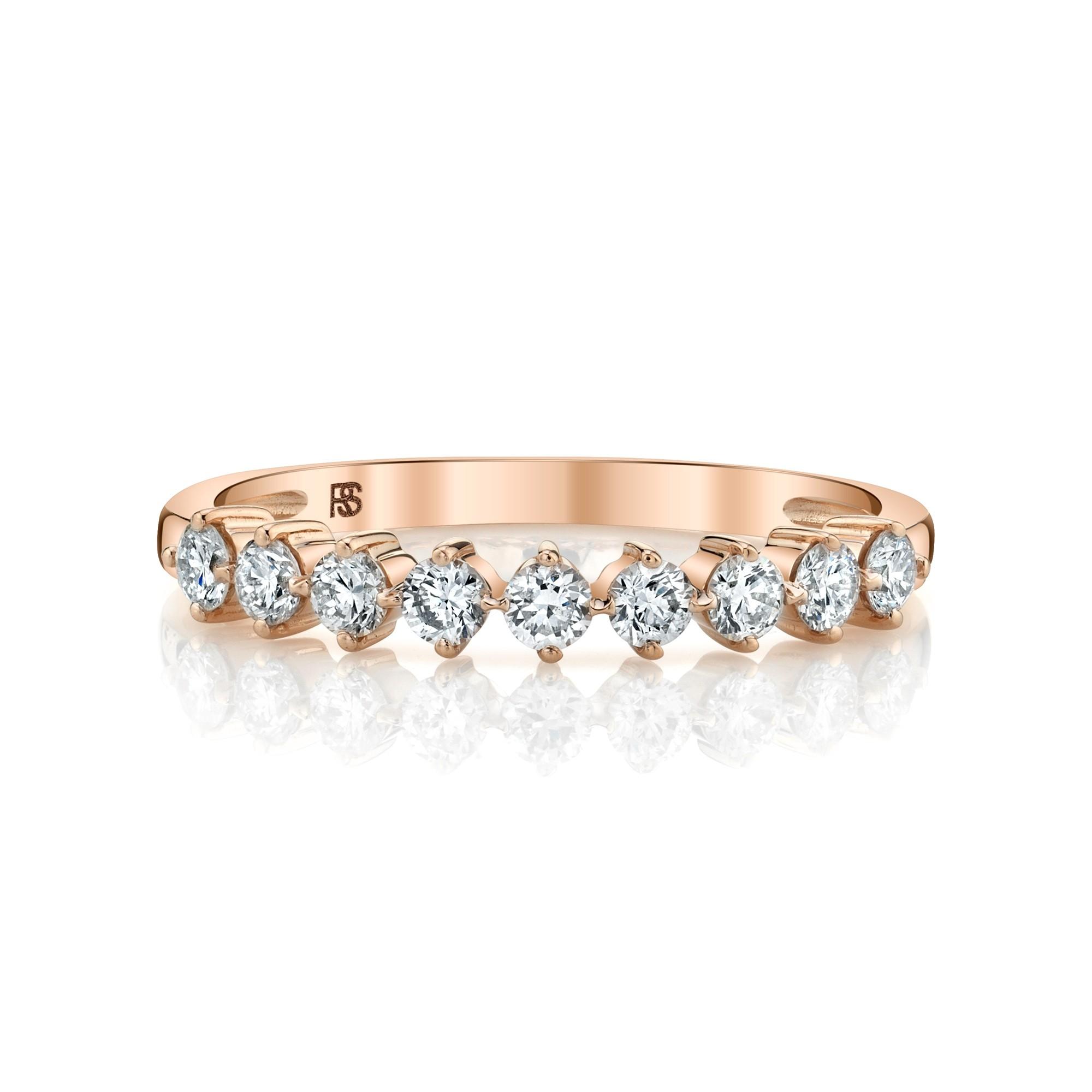 14k Rose Gold Diamond Compass Set Ring 2