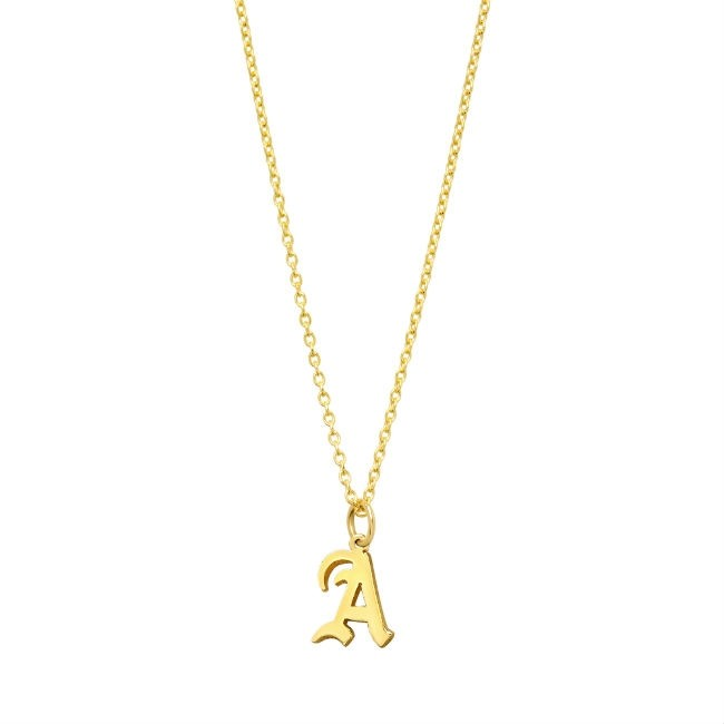 14k Personalized Yellow Gold Letter Necklace
