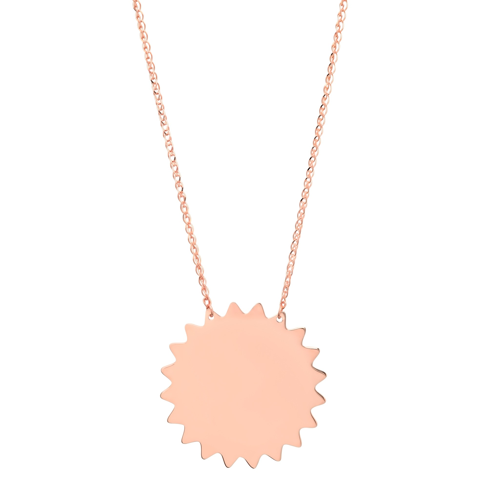 14k Rose Gold Sunshine Necklace
