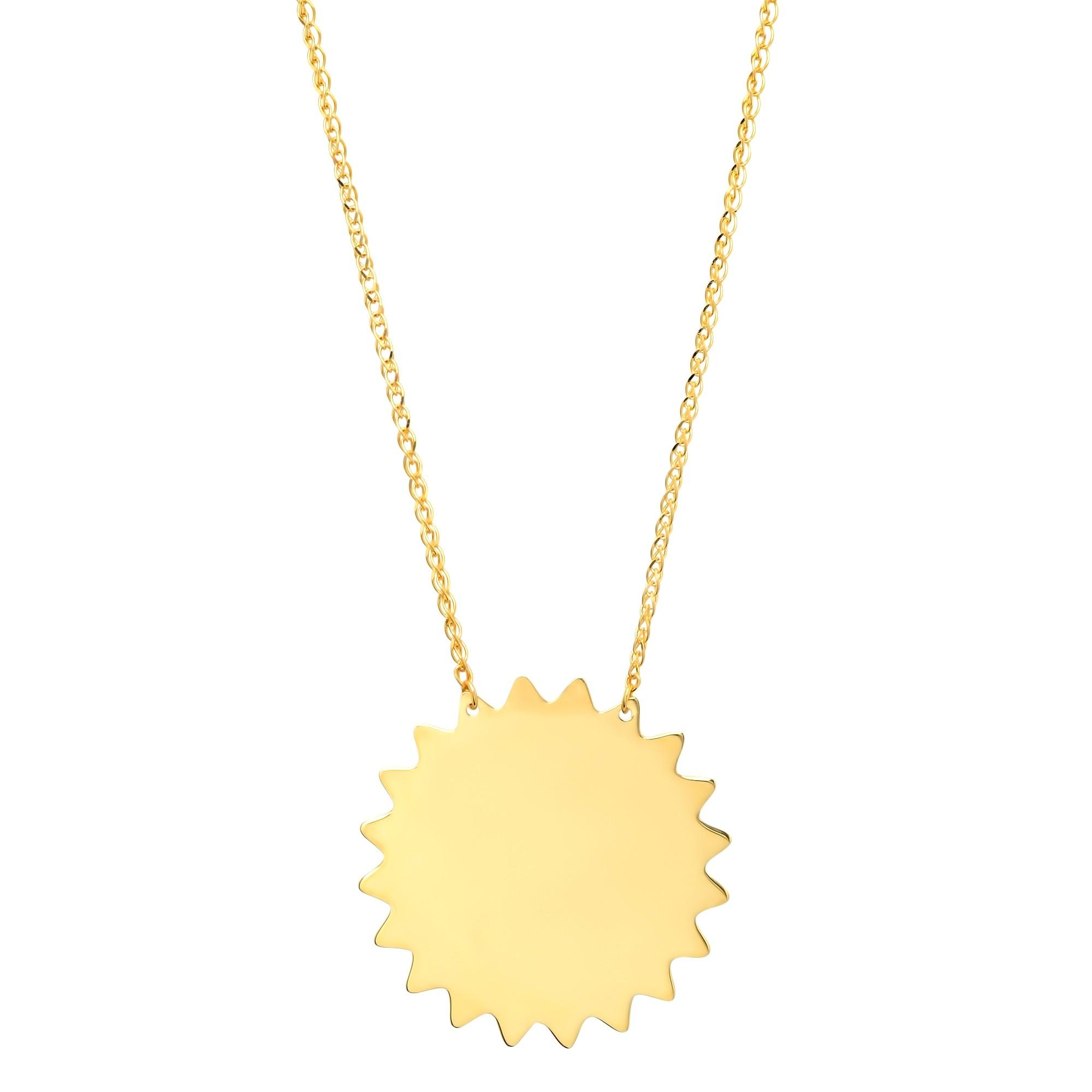 14k Yellow Gold Sunshine Necklace