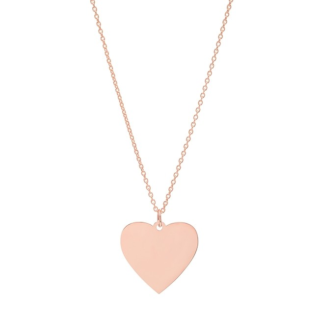 14k Rose Gold Jumbo Heart Necklace