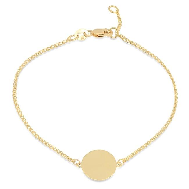 14k Yellow Gold Disc Bracelet