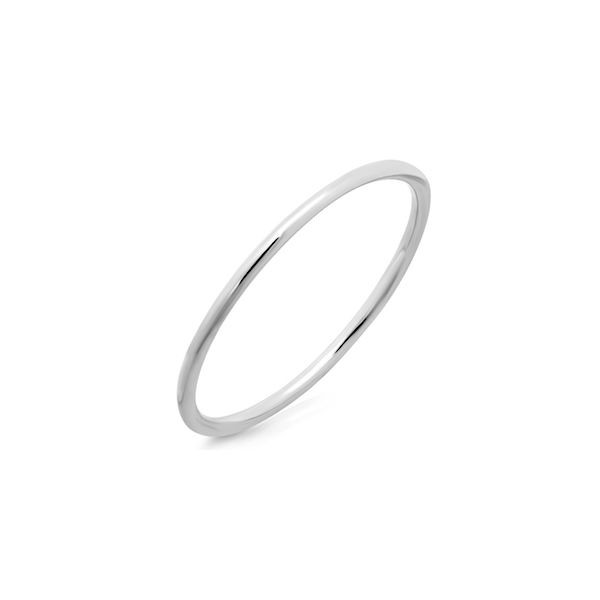 14k White Gold Stackable Waif Ring