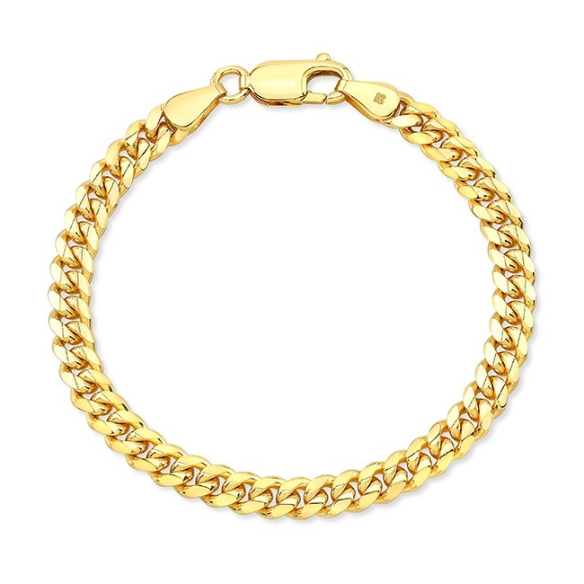Kids' 14k Yellow Gold Miami Cuban Link Bracelet
