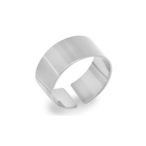 14k White Gold Smooth Ring